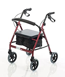 Simplymed rollator mobility walker four wheel rollator for Mobility walker