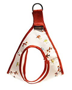 Gooby Picnic Dog Harness, Large, Pink Airplane