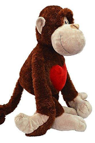 "AWESOME Stuffed Animal Monkey with Dangling Legs 14"" / 35 cm Plush Toy, Baby Kids Doll Gift,Bedtime Cuddly"