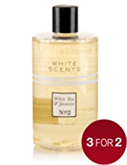 White Scents White Tea & Jasmine Bath Foam 500ml