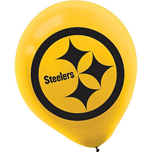 Pittsburgh Steelers Latex Party Balloons by Amscan