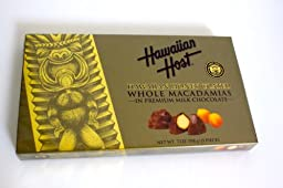 Hawaiian Host Hawaiian Honey-Coated Whole Macadamias in Premium Milk Chocolate GIFT BOX NET WT 7 OZ (198 g)