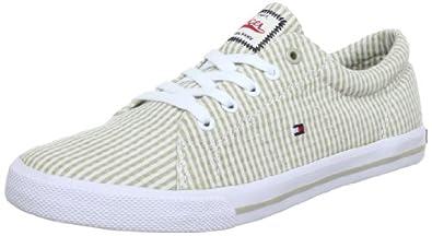 Tommy Hilfiger VIGO 1 FU56815479, Unisex-Kinder Sneaker, Beige (SEERSUCKER TIDAL FOAM 133), EU 28