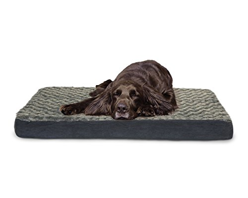 FurHaven Pet Nap Ultra Plush Deluxe Orthopedic Mattress Pet Bed for Dogs and Cats, Large Gray (Pet Supplies For Large Dogs compare prices)