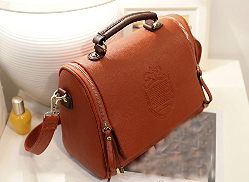 Flying Birds Women'S Classic Fashion Handbag Pu Leather Shoulder With Shoulder Strap Ha708 (Brown)
