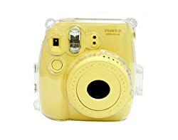 CAIUL Transparent Crystal Instant Camera Case for Fujifilm Instax Mini 8