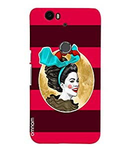 Omnam Girl Printed Joker with Red Purple Background for Goole Nexus 6 P