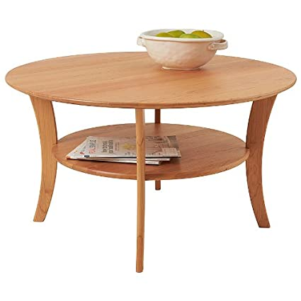 Manchester Wood Round Cherry Coffee Table - Natural Cherry