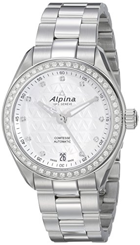Alpina-Womens-AL-525STD2CD6B-Comtesse-Analog-Display-Automatic-Self-Wind-Silver-Watch