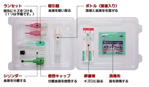 ≪デメカル血液検査キット≫「HIVセルフチェック」 男女兼用