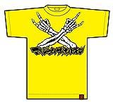 マキシマムザホルモン メタルポーズTシャツZ 黄色 Lサイズ