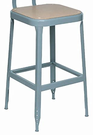 "Lyon PP1708 All Welded Pressed Wood Seat Stool with Steel Glide Feet, 18"" Height, 400 lbs Capacity, Putty, (Pack of 2)"