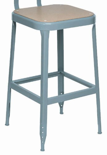 """Lyon Dd1709 All Welded Pressed Wood Seat Stool With Black Rubber Feet, 18"""" Height, 400 Lbs Capacity, Dove Gray, (Pack Of 2) front-149033"""