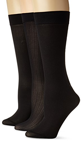 Anne Klein Women's Jagged-Chevron Three-Pack Trouser Socks Reviews