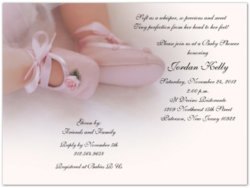Rose Booties Baby Shower Invitations - Set Of 20 front-1002030