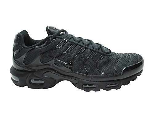 pictures of Nike Men's Air Max Plus Black / Black / Black Synthetic  Cross-Trainers