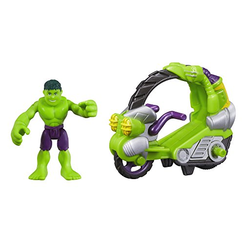 Playskool Heroes Marvel Super Hero Adventures Hulk Figure with Tread Racer Vehicle - 1