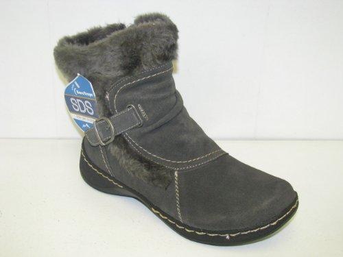 "Women's BareTraps ""Extreme"" Water Resistant Ankle Boots - Dark Grey Suede (9, Dark Grey Suede)"