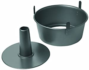Chicago Metallic Non-Stick 2-Piece Angel Food Cake Pan with Feet (2)
