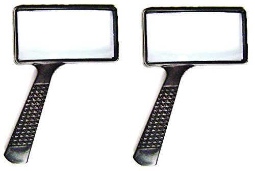 MAGNIFYING GLASS 4x Rectangular Lens -- TWO PACK - 1
