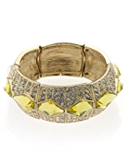Limited Edition Diamanté Encrusted Statement Stretch Bracelet