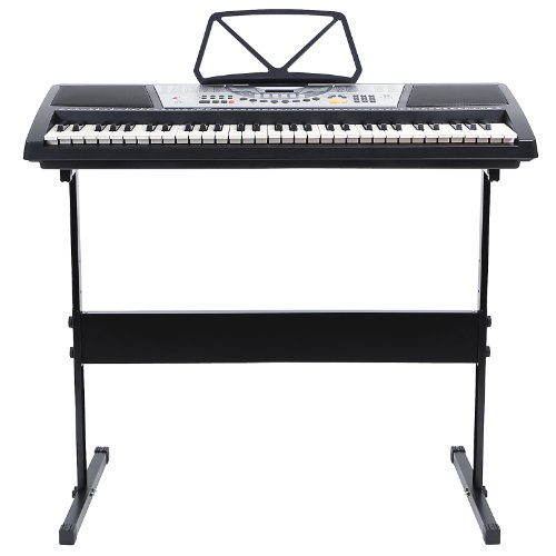 Lowest Prices! Hamzer 61 Key Electric Music Keyboard Piano with Stand - Black