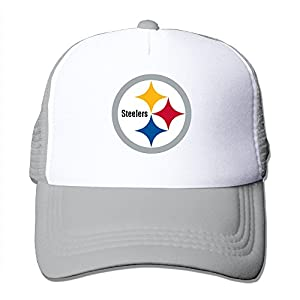 Adult Pittsburgh Steelers Adjustable Mesh Hat Trucker Baseball Cap Ash