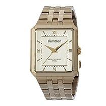 Armitron Men's 204694CHGP Gold-Tone Stainless-Steel Champagne Dial Dress Bracelet Watch
