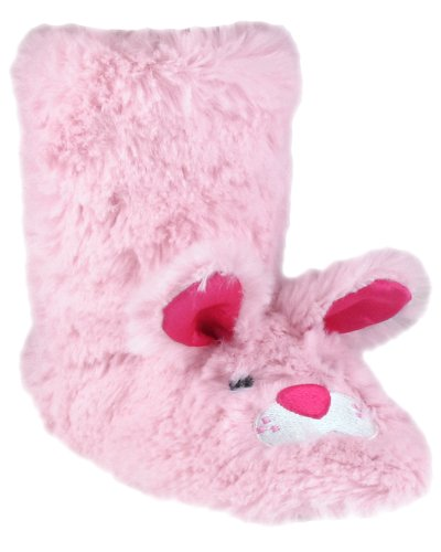 "Cheap Capelli New York Bunny Fur Boot With ""Funny Bunny"" Embroidery Girls Indoor Slipper (B005XAXR02)"