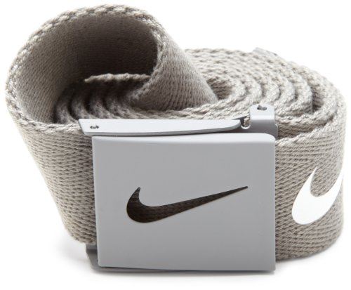 Nike Mens Tech Essential Belt, Light Charcoal, One Size