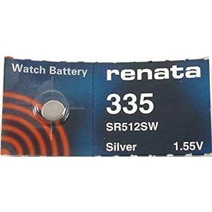 2 x Renata 335 Pila Reloj Hecho En Suiza Plata Óxido 1.5 También = SR512SW, SB-AB, 280-68, V335, 622 marca Renata
