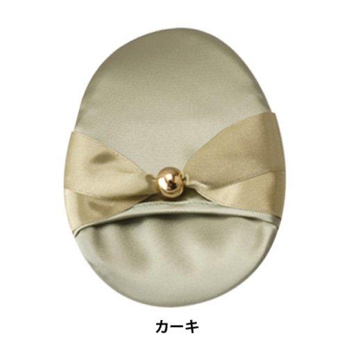 京都シルク化工 シルク洗顔パフ カーキ