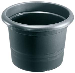 pflanzk bel montana rund aus kunststoff farbe anthrazit durchmesser 60 cm garten. Black Bedroom Furniture Sets. Home Design Ideas