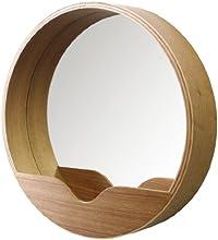 Zuiver 8100002 - Specchio rotondo da parete, 40 x 8 x 40 cm