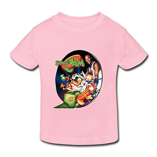 Pink Ambom Space Jam Little Boys Girls Short-Sleeve T Shirt For Toddler Size 4 Toddler (Space Cup Tee compare prices)