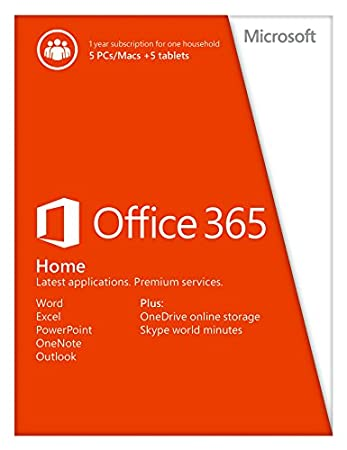 Office 365 Home 5 PCs or Macs Key Card (No Disc)