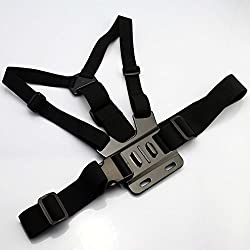 Mobilegear Adjustable Body Chest Strap Belt Mount for GOPRO HERO, SJCAM, Yi & Other Action Cameras