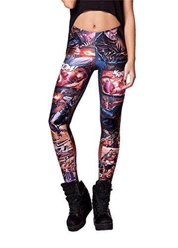 Women'S Fashion Digital Print Omega'S Boss Pattern Sexy Leggings