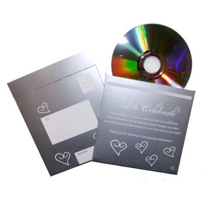 CD & foto in argento, con cuori, colore: bianco a) (pcds_silver (singoli)