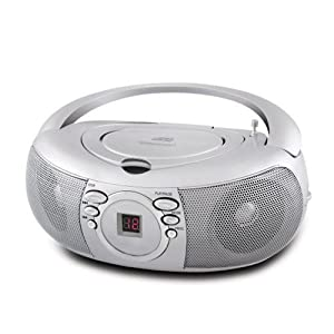 Coby CXCD275SVR Portable CD Player with AM/FM Stereo Tuner (Silver)