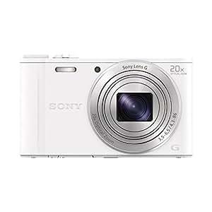 """Sony DSCWX350W.CE3 Appareil photo hybride 3"""" (7,62 cm) 18,2 Mpix Zoom optique 20x Wi-Fi/HDMI/USB Blanc"""