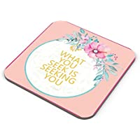 PosterGuy Coasters - Flowers,pink,quotes, Rumi, Thoughts, Cute, Floral, Print, Colourful, Love, Deep, Spiritual...
