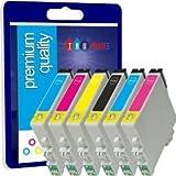 N.T.T.® 6 d'encre Cartouches NOUVELLE VERSION Haute Capacité 100% Compatible cartouches d'encre pour EPSON Stylus Photo R265 R360 R285 RX560 RX585 RX685 P50 PX650 PX700W PX710W PX800FW PX810FW TO801 TO802 TO803 TO804 TO805 TO806 TO807