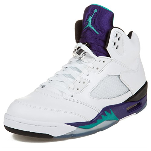 timeless design ce036 71881 pictures of Mens Nike Air Jordan 5 Retro Basketball Shoes GRAPES White    New Emerald Grape