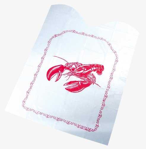 Fox Run Disposable Lobster Bibs, Set of 4, 2-Pack