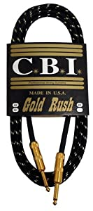 CBI Gold Rush Guitar Instrument Cable - 25 Foot
