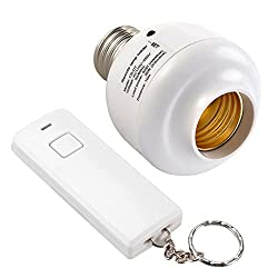 DivineXt 10M Wireless Remote Control E27 Screw Light Lamp Bulb Holder Cap Socket Switch With Wireless Remote Controls