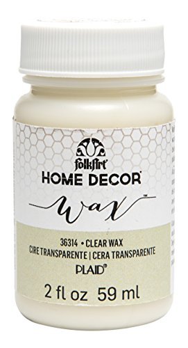 FolkArt Home Decor Chalk Furniture & Craft Paint in Assorted Colors (2 Ounce), 36314 Clear Wax (Folkart Wax compare prices)
