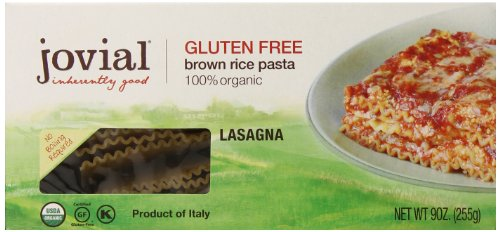 Jovial Foods Organic Gluten Free Brown Rice Pasta, Lasagna, 9 Ounce (Sugar Free Organic Pasta Sauce compare prices)