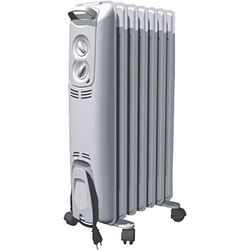 Oil Filled Electric Radiator Heater Color: White/Silver